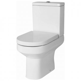 Cali Montego Close Coupled Toilet 820mm - Push Button Cistern - Excluding Seat