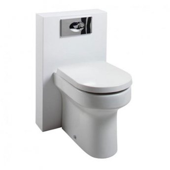 Cali Montego PolyMarble WC Shroud Unit with Toilet Pan and Seat + Cistern - Gloss White
