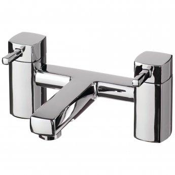 Cali Nero Bath Filler Tap Pillar Mounted - Chrome