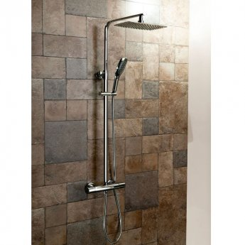 Cali Oval Bar Mixer Shower with Shower Kit + Fixed Head