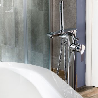 Cali Pedras Freestanding Bath Shower Mixer Tap - Chrome