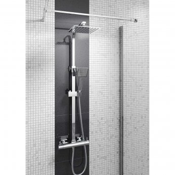 Cali Quadrato Bar Mixer Shower with Shower Kit + Fixed Head
