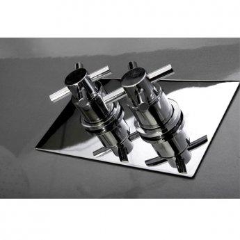 Cali Reno Crosshead Concealed Shower Valve - Dual Handle - Chrome