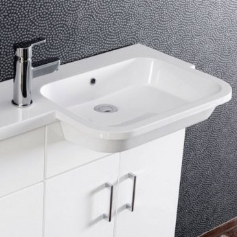 Cali Ria Combination Unit with Right Handed Basin - 1000mm Wide - Gloss White