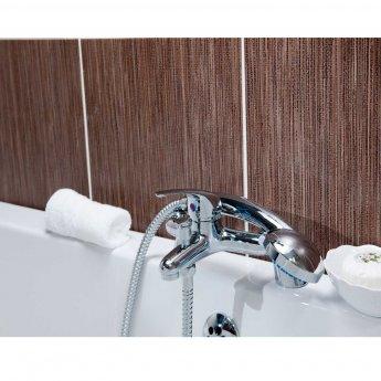 Cali Rio Bath Shower Mixer Tap - Deck Mounted - Chrome