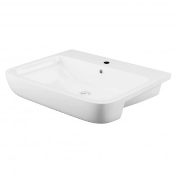 Cali Rivelin Semi Recessed Basin 550mm Wide - 1 Tap Hole