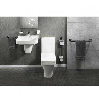 Cali Rose Metal Bathroom Soap Dish - Chrome