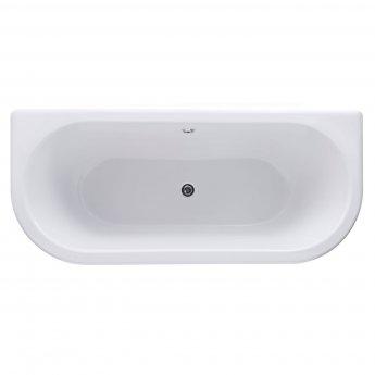 Cali Samford Traditional Back to Wall Bath 1700mm x 750mm - White