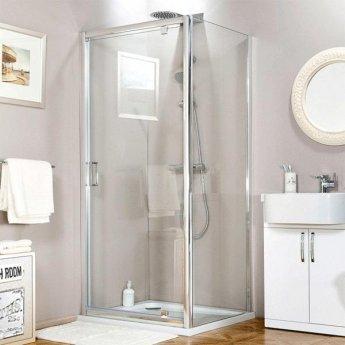 Cali Seis Pivot Shower Door - 760mm Wide - 6mm Glass