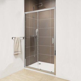 Cali Seis Sliding Shower Door 1600mm Wide - 6mm Glass