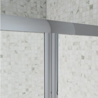Cali Seis Bi-Fold Door Shower Enclosure 800mm x 800mm - 5mm Glass