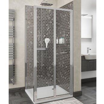Cali Seis Bi-Fold Door Shower Enclosure 900mm x 800mm - 5mm Glass
