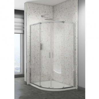 Cali Seis Offset Quadrant Shower Enclosure - 1000mm x 800mm - 6mm Glass