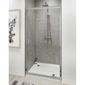 Cali Seis Pivot Door Shower Enclosure 700mm x 700mm - 6mm Glass