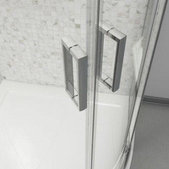 Cali Seis Quadrant Shower Enclosure - 800mm x 800mm - 6mm Glass