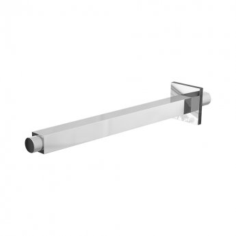 Cali Ceiling Mounted Vertical Square Shower Arm 300mm Length - Chrome