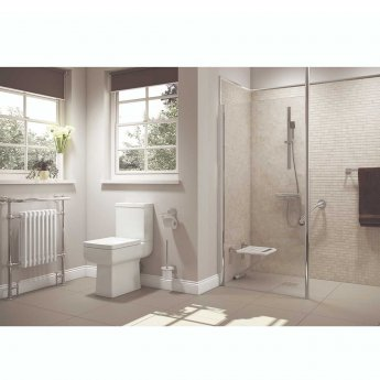 Cali Mobility Fold Down Shower Seat 390mm x 350mm - white