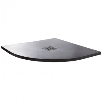 Cali Quadrant Slate Effect Shower Tray with Waste 900mm x 900mm - Anthracite