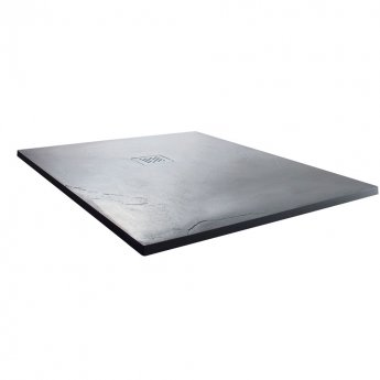 Cali Square Slate Effect Shower Tray with Waste 900mm x 900mm - Anthracite