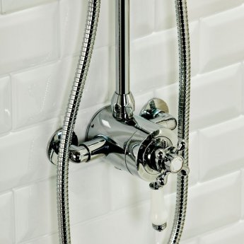 Cali Traditional Exposed Thermostatic Shower Valve - Chrome