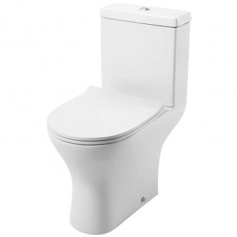 Cali Spek Close Coupled Toilet - Push Button Cistern with Soft Close Quick Release Slimline Seat