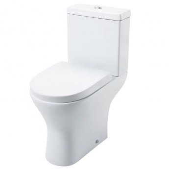 Cali Spek Close Coupled Toilet - Push Button Cistern with Soft Close Quick Release Wrapover Seat