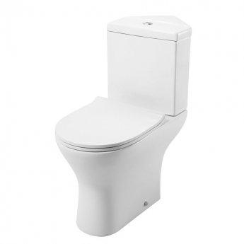 Cali Spek Corner Close Coupled Toilet Push Button Cistern Soft Close Quick Release Slimline Seat