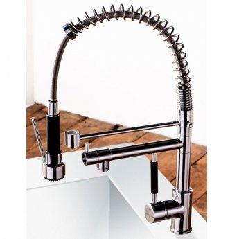 Cali Kitchen Sink Mixer Tap - Flexible Spray and Swivel Spout - Chrome