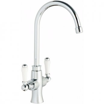 Cali Traditional Kitchen Sink Mixer Tap - Dual Lever - Chrome
