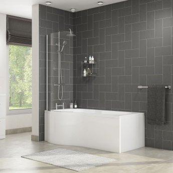 Cali Tempest P-Shaped Shower Bath 1700mm x 700mm/850mm Left Handed