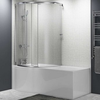 Cali Tempest P-Shaped Shower Bath Enclosure 1700mm X 700mm/850mm Left Handed, Panel and Screen