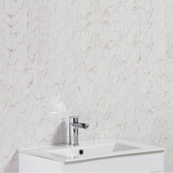 Cali Tongue and Groove Wet Wall Shower Panel 2400mm x 1000mm x 2 Panels 10mm - Grey Marble