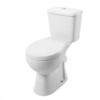 Cali Unison Close Coupled Toilet - Push Button Cistern - Soft Close Seat