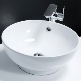 Cali Vessel Round Counter Top Basin - 420mm Wide - 0 Tap Hole