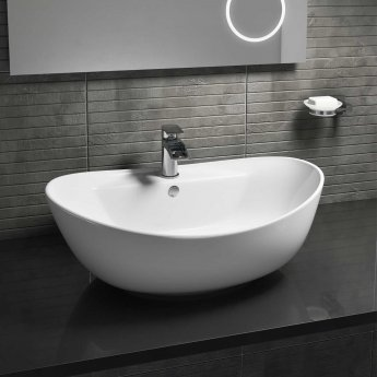 Cali Vessel Oval Counter Top Basin - 600mm Wide - 1 Tap Hole
