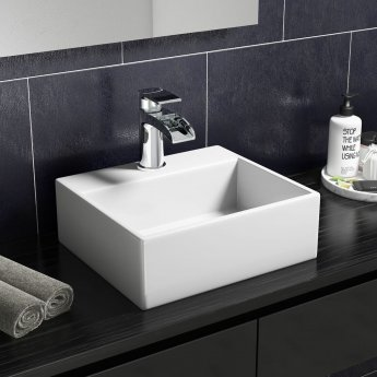 Cali Vessel Rectangular Counter Top Basin - 330mm Wide - 1 Tap Hole