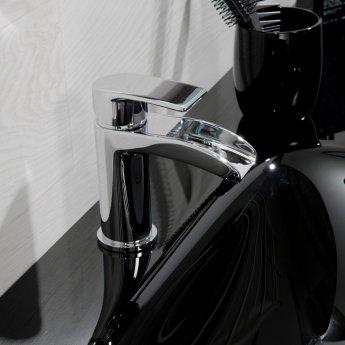Cali Vigo Waterfall Mono Basin Mixer Tap Deck Mounted - Chrome
