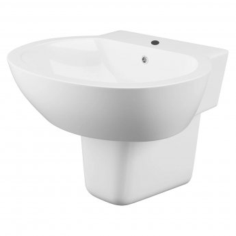 Cali Wharfe Basin with Semi Pedestal 540mm Wide - 1 Tap Hole