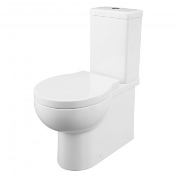 Cali Wharfe Fully Cloaked Close Coupled Toilet - Quick Release Seat