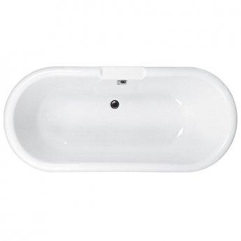 Carron Ascoli Traditional Roll Top Freestanding Bath 1700mm x 750mm 5mm - Acrylic