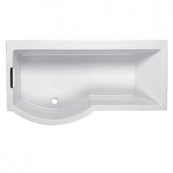 Carron Celsius 1700mm x 750mm/900mm Bath with Filler & Round Waste - Left Handed - White