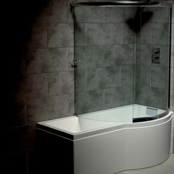 Carron Celsius 1700mm x 750mm/900mm Bath with Filler & Round Waste - Right Handed - White