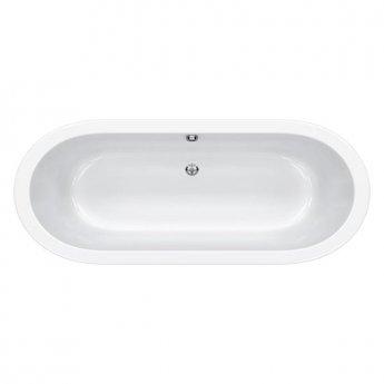 Carron Halcyon Round 1750mm x 800mm Freestanding Bath - White Panelling - White