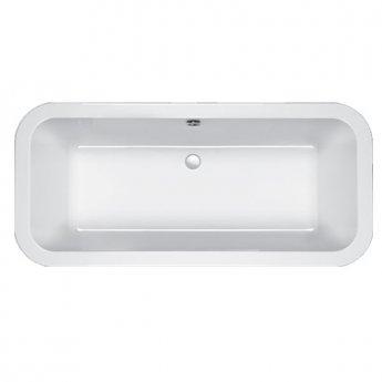 Carron Halcyon Square 1750mm x 800mm Freestanding Bath - White Panelling - White