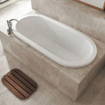 Carron Halcyon Inset 1750mm x 800mm Oval Bath - Carronite
