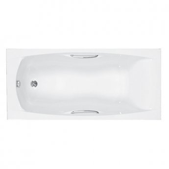 Carron Imperial TG 1500mm x 700mm Rectangular Bath with Grips - Carronite