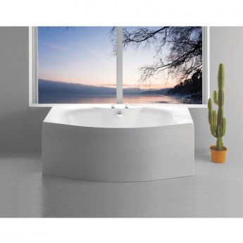 Carron Mistral Bow Front Rectangular Bath 1800mm x 700/900mm - Carronite
