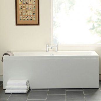 Carron Quantum Double Ended Rectangular Bath 1700mm x 800mm - Carronite