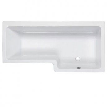 Carron Quantum Square 1700mm x 700mm/850mm Shower Bath - Right Handed - Carronite