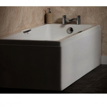 Carron Quantum Integra Eco 1600mm x 700mm Bath with Twin Grip - 5mm Acrylic - White